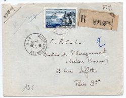 1958 - ENVELOPPE FM RECOMMANDEE POSTES AUX ARMEES AFN - GUERRE D´ALGERIE - SEUL SUR LETTRE - Marcophilie (Lettres)
