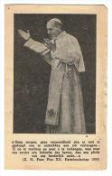 Devotieprentje Kerstboodschap Pius XII 1950 - Godsdienst & Esoterisme