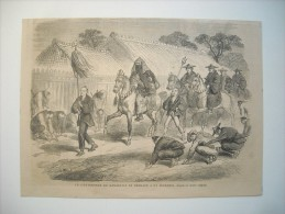 GRAVURE 1864. JAPON. LE GOUVERNEUR DE KANAGAWA SE RENDANT A UN INCENDIE. - Stiche & Gravuren
