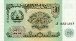 Tajikistan 50 Ruble  1994  Pick 5 UNC - Tayikistán