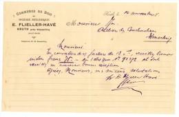 Demi Feuille A4 à Entête Commerce De Bois  Scierie Mécanique E.Flieller-Havé Kruth Près Wesserling  14/11/1925 - France