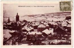 Orgelet - Vue Générale Sous La Neige - Orgelet