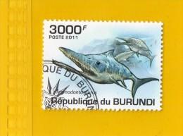 REP. DU BURUNDI,,,  REQUINS ,, TEMNODONTOSAURUS,,,  **  3000 F. ** ,,, POSTE 2011 ,, TBE - Burundi