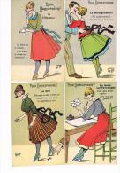 CPA GRIFF - 4 Cartes Pour Correspondre :la Clef -le Baisogramme -la Tache Sur L´enveloppe -le Télégramme - France