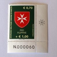 SMOM 2013 - PRO FILIPPINE MNH** - Sovrano Militare Ordine Di Malta