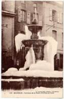 Bourgoin, Fontaine De La Place D'Armes En Hiver - France
