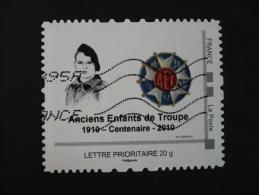 France - Personnalisé - 2010 Centenaire Anciens Enfants De Troupe - Lettre Prioritaire 20 G Oblitéré - France