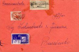 1954 RACCOMANDATA TELEVISIONE IN ITALIA+SIRACUSANA DA PESCO SANNITA(BENEVENTO)--R429 - 1946-60: Storia Postale