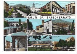 132/600 - SASSOFERRATO Saluti Da ..... Viaggiata Nel 1969 . - Ancona