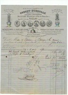 MAISON COSSET - DEBRULLE à LILLE (NORD) FABRIQUE DE LAMPES POUR MINES  1874 - France