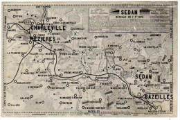 Sedan, Bataille 1870 (Charleville-Mézières, Bazeilles)(carte Géographique) - Sedan