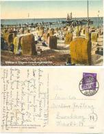 AK Göhren Rügen 1944, Landungsbrücke, Strand, Menschen - Göhren