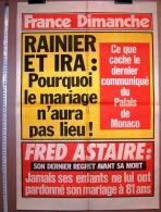 PUBLICITE 1987 ? AFFICHE DE PRESSE FRANCE DIMANCHE 50X73cm VEDETTE T.V. FRED ASTAIRE RAINIER ET IRA POURQUOI LE MARIAGE - Affiches
