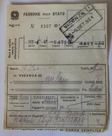 Billet Papier VICENZA-MILANO 1961Col Schnabel - Chemins De Fer