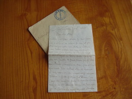 Dépot D'artillerie N° 15 , 103° Batterie . Lettre écrite De Nimes  . 1940 - Dokumente