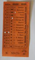 Billet Papier Autolinea  GRADO-UDINE  Col Schnabel - Bus