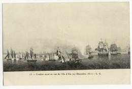 ILE D´AIX. -  Gravure D'un Combat Naval( 27 Décembre 1811) Ed. L.C. - France