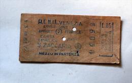 Billet Papier ACNIL VENEZIA-S.ZACCARIA Col Schnabel - Bus