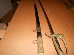 SABRE OFFICIER MARINE NATIONALE Modéle 1837 - Armes Blanches