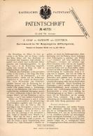 Original Patentschrift - E. Graf In Sandow B. Cottbus , 1888 , Zwirnmaschine Für Effectgarn , Effect , Spinnerei  !!! - Maschinen