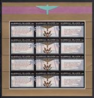 Marshall Islands MNH Scott #145a Minisheet Of 4 Strips Of 3 14c US Constitution Bicentennial - Marshall