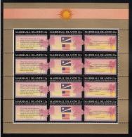 Marshall Islands MNH Scott #148a Minisheet Of 4 Strips Of 3 22c US Constitution Bicentennial - Marshall