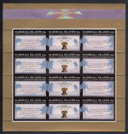 Marshall Islands MNH Scott #151a Minisheet Of 4 Strips Of 3 44c US Constitution Bicentennial - Marshall