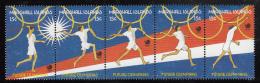 Marshall Islands MNH Scott #188 Strip Of 5 15c Javelin Thrower - 1988 Olympics - Marshall