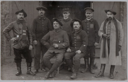 Militaire D'Hyeres Prisonier De Guerre 1914-1918 Camp Schneidemuhl Posen  Carte Photo 2sc Chasseur Alpins N°27 De Menton - Guerra 1914-18