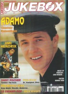 JUKEBOX MAGAZINE  N° 183  -  ADAMO / JIMI HENDRIX  - 2002 - Poster Page Centrale: RONNIE BIRD - Music