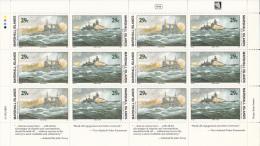 Marshall Islands MNH Scott #328a Minisheet Of 6 Pairs 29c Battle Of Barents Sea - World War II - Marshall
