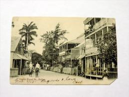 Carte Postale Ancienne : BELIZE : North Front Street , Belle Animation - Belize