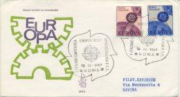 ITALIA - FDC VENETIA 1967 - EUROPA UNITA - CEPT - VIAGGIATA PER SAVONA - 6. 1946-.. Repubblica