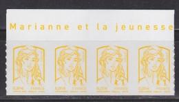 = Marianne Et La Jeunesse Autocollant X4 Valeur 0.01€, Haut De Feuille Avec Légende N° 847 Neufs - Sellos Autoadhesivos