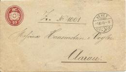 1875 10 Rp Tüblibrief Von VEVEY Nach AARAU - Ganzsachen