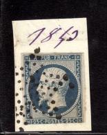 YV. N° 10 OBL. ETOILE PLEINE SUR FRAGMENT  B/TB. - 1852 Louis-Napoléon