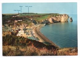 CP, 76, ETRETAT, The Beach, The Cliffs And The Golf Course, Ecrite - Etretat