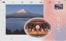 Carte Prépayée Japon - Volcan FUJI & Orchestre Musique Tambour  Vulcan & Music Japan Card  Vulkan & Orchester Musik / 2 - Montagnes