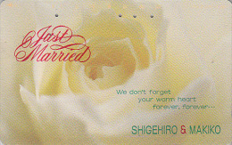 Télécarte Japon / 110-143 - Fleur ROSE Jaune / 105 U - Flower Japan Phonecard - Blume Telefonkarte - MD 1907 - Fleurs