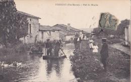POISSONS - Bief Du Moulin - Carte Avec Belle Animation - Other Municipalities