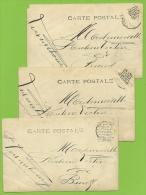 Kaart Verstuurd Met Correspondentie Onder De Postzegels /Message Secret Sous Le Timbre/fraude Postale : Texte Sous (x6) - Non Classés