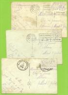 Kaart Verstuurd Met Correspondentie Onder De Postzegels /Message Secret Sous Le Timbre/fraude Postale : Texte Sous (x3) - Non Classés