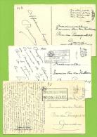 Kaart Verstuurd Met Correspondentie Onder De Postzegels /Message Secret Sous Le Timbre/fraude Postale : Texte Sous (x10) - Non Classés