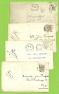 Kaart Verstuurd Met Correspondentie Onder De Postzegels /Message Secret Sous Le Timbre/fraude Postale : Texte Sous (x9) - Non Classés