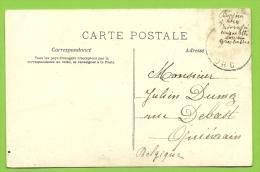 Kaart Verstuurd Met Correspondentie Onder De Postzegels /Message Secret Sous Le Timbre/fraude Postale : Texte Sous - Non Classés