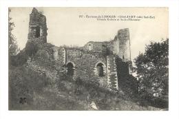 Cp, 87, Env. De Limoges, Ruines Du Château De Chalucet, Grande Galerie Et Salle D'Honneur - Limoges