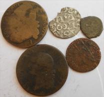 LOT De 5 Monnaies Royales / Féodales Ou Autres , Lot N°9 - Zonder Classificatie
