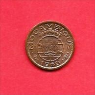 MOZAMBIQUE 1960 ,circulated Coin , 10 Centavos, Bronze, Km83, C1678 - Mozambique