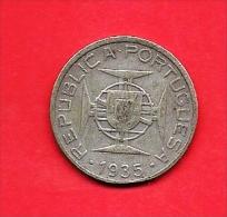 MOZAMBIQUE 1935, Circulated  Coin , 5 Esccudos, 0.650 Silver Km62, C1687 - Mozambique