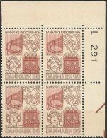 Czeslaw Slania. Denmark 1975. 50 Anniv Danish Radio. Michel 587, Plate-block MNH. - Denmark